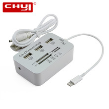 Micro USB Hub Combo 2.0 3 Ports Card Reader High Speed Multi USB Splitter Hub USB Combo All In One for PC Computer