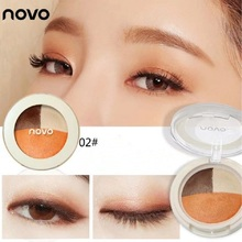 NOVO Dry and Wet Dual-use Mineral Baked Eye Shadow Pearl Highlight Matte Waterproof Bloom Peach Pomelo Color Eye Shadow