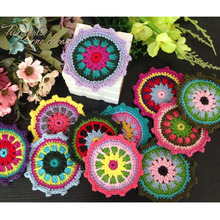 Original DIY  Colors 12cm Star Coaster Handmade Crochet Doilies Wedding Table Decor Doily Placemat Clothes Accessories 30pcs/lot