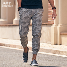 Enjeolon brand 2017 new Camouflage sweatpants men, long trousers high-quality cargo pants, males fashion Causal clothes K6314-2(China)