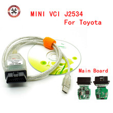 MINI VCI for TOYOTA Single Auto Diangnostic Cable V10.30.029 Support for Lexus/ Toyota TIS Newest Software Free Shipping