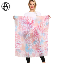 FS Long Cotton Scarf Floral Print Women Scarves Echarpes Foulards Femme Hijab Large Shawls Head Pashmina Wraps For Ladies Spring(China)