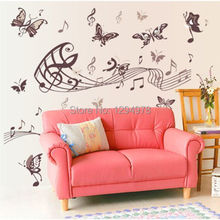 High quality ! Romantic note Butterflies 130*80cm DIY Removable Art Vinyl Wall Stickers Decor Mural Decal DF5090