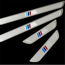 Car Styling Stainless Steel M-tech Sports Guards Pedal Door Sill Scuff Plate for BMW X1 E84 X3 F25 X5 E70 X6 E71 5/1/3/7 Series