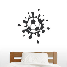 Hot Selling Muddy Soccer Ball Wall Art Decal Bedroom Home Decoration Vinyl Wall Stickers football Waterproof Decal Mural(China)