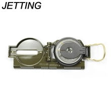 JETTING Military Camping Magnifier Army Green Marching Lensatic Compass