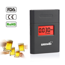 High Quality Breathalyzer AT-838 Digital Breath Alcohol Tester with Mouthpiece LCD Alcohol Tester Clock Factory Price