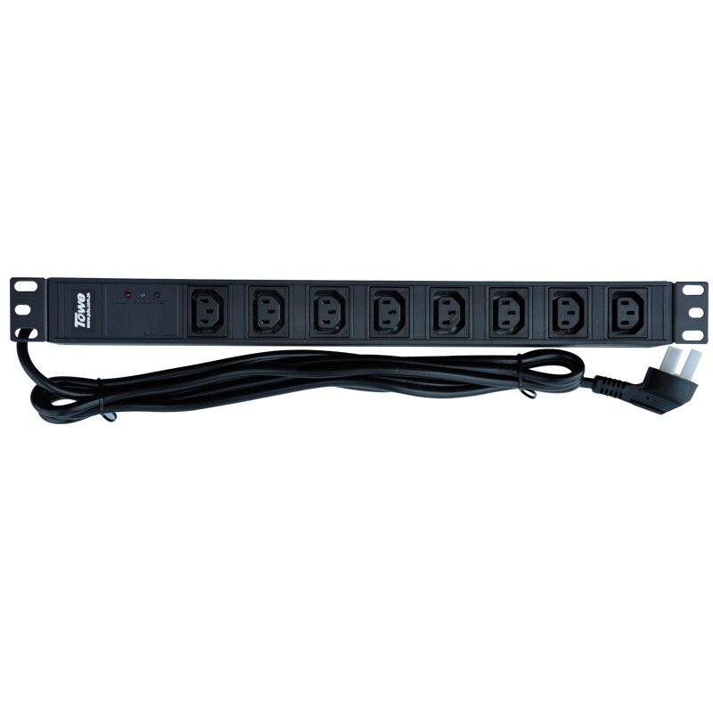 TOWE EN10/I818S 10A 8 WAYS IEC320 C13 19inch Cabinet socket SPD PDUs<br><br>Aliexpress