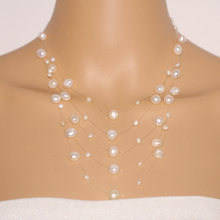 Fashion women pearl necklace 2016 brand white choker necklace freshwater pearl statement necklace,bridesmaid necklaces NK053(China)