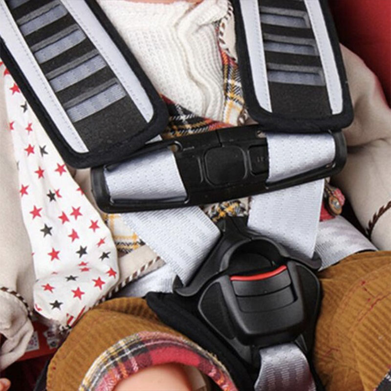 Baby Arriage Black Car Seat Belts Kids Safe Lock Buckle Safety Strap Chest Clip