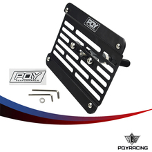 PQY RACING - Multi Angle Tow Hook Mount PQY License Plate For Honda Civic EG EK ES FD with PQY Sticker PQY-LPF02(China)