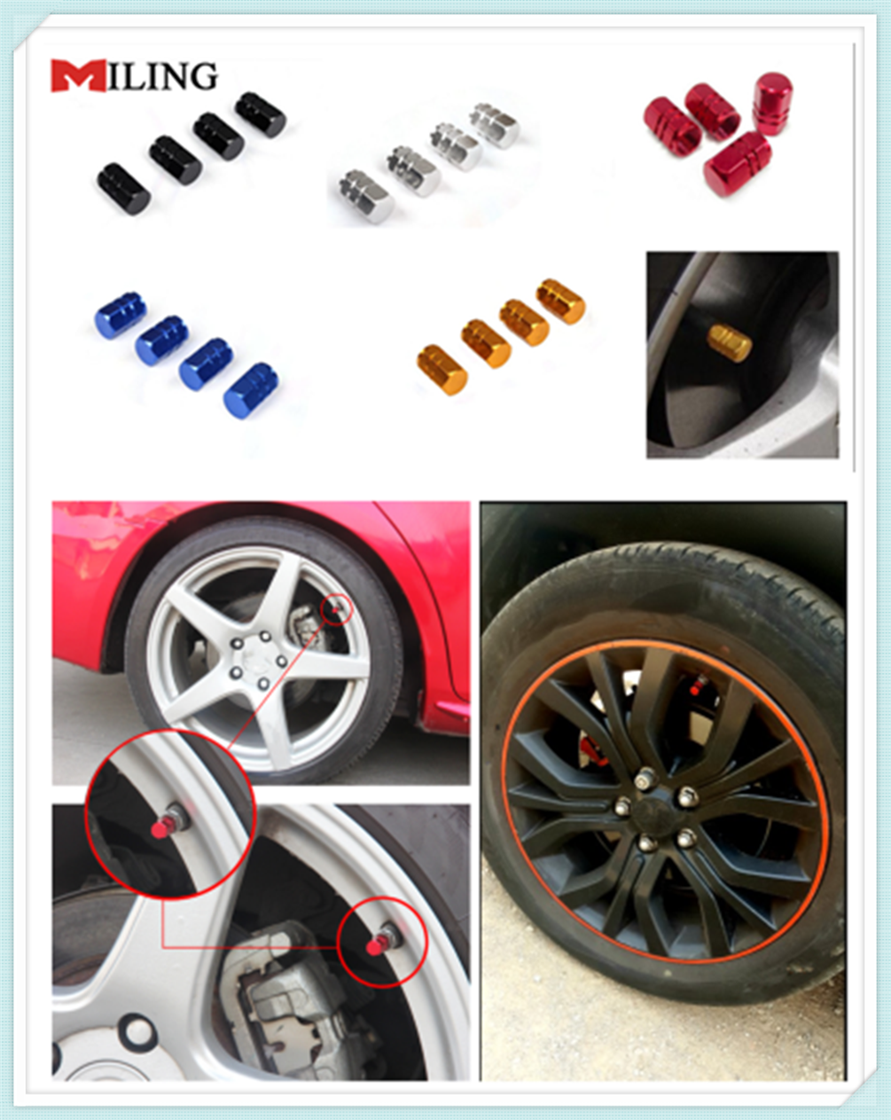 Aluminum Car Wheel Tires Valves Tyre Stem Air Caps Airtight Cover For Nissan Teana Sunny March Murano Geniss Juke