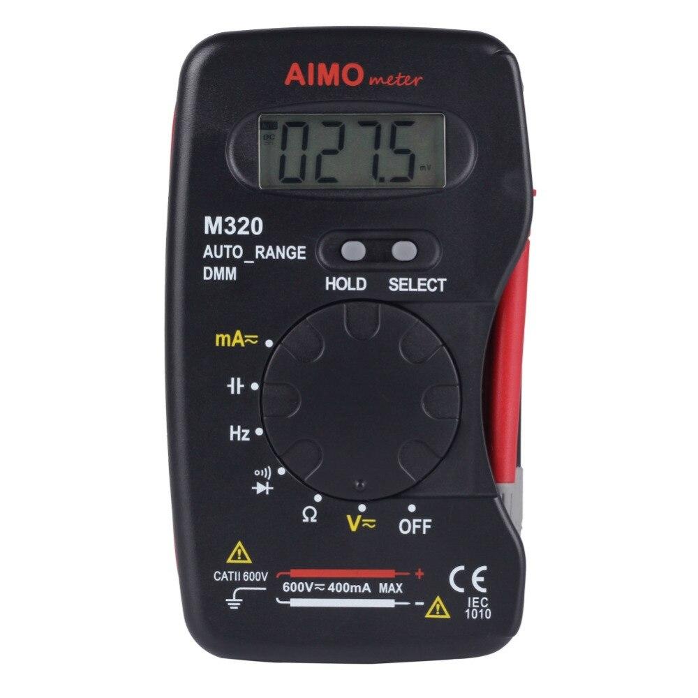 AIMOmeter M320 Pocket Size Auto Range Handheld Digital Multimeter DMM Frequency<br><br>Aliexpress