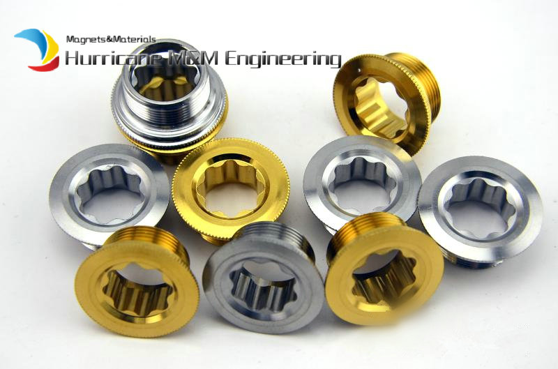 1 Pack M20 Crankshaft Cover for ULTEGRA Ti Threaded Bolt  for Deore590 Gold and Ti Color MTB Cover Head Screws Ti Fastener<br>