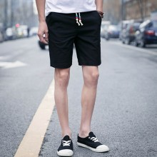 Men Summer Casual Cotton Shorts Bandage Brand Clothing Beach Short Trousers Masculine Perfume Clothing
