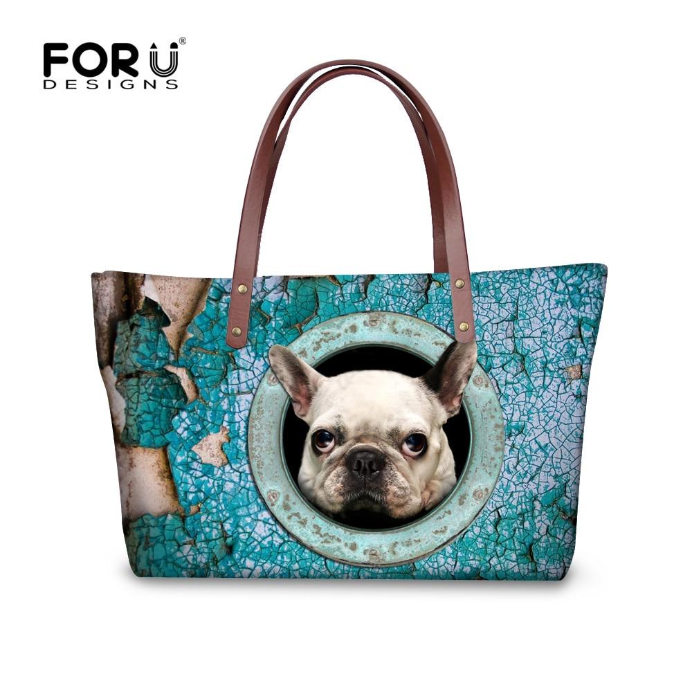 2017 Large Capacity Cute Pug Dog Women Handbags Kawaii French Bulldog Tote Bag Mujer Bolsos Brand Ladies Crossbody Shoulder Bags<br><br>Aliexpress