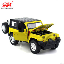NEW The latest alloy models 1:32 boutique Wrangler models Double horses light back of the car toy collection boutique gift boy(China)