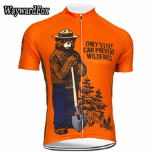 2017 men's summer Cycling jersey short sleeve customed bike cycling wear apparel america bear orange(China)