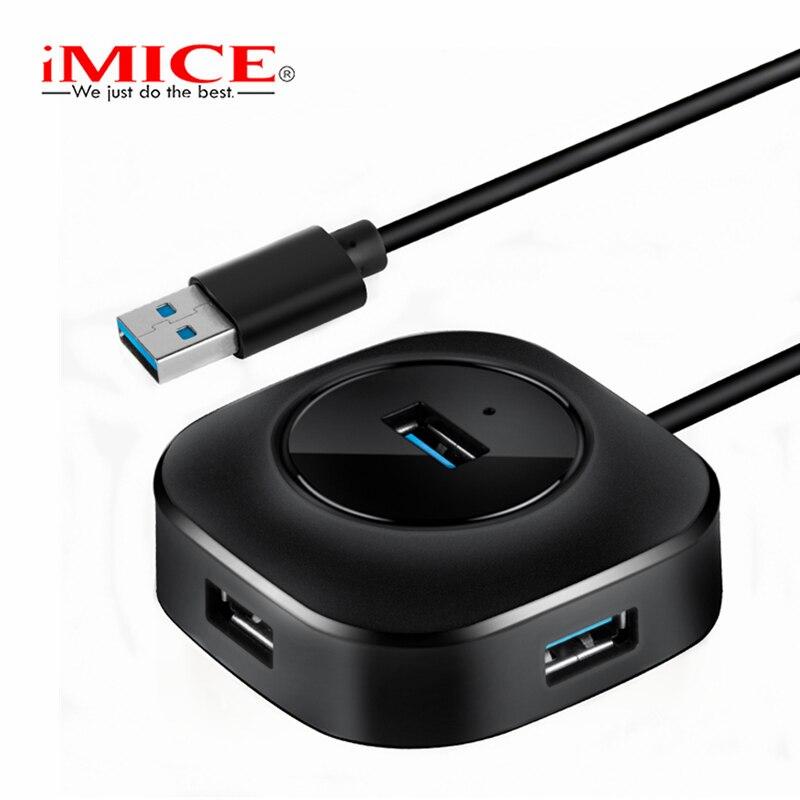 iMice USB HUB 3.0 USB Splitter 4 Ports Cable 25cm 100cm Micro USB 3 Hub Multi Distributor Usb Hab 3.0 for PC