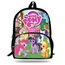 16-inch Fashion My Little Pony Backpacks For Teenage Girls Cartoon Back Packs School Bags For Boys Kids Printed Backpacks(China)