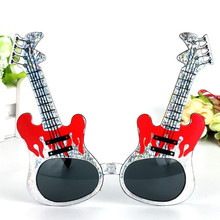 New Rock Guitar Glasses Sunglasses Kids Adults Bar KTV Eyewear Halloween Dance Favors Gift Party Christmas(China)
