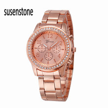 New Elegant Fashion Women's Bracelet Watch Alloy Watch Diamond trim Round dial noble clock beautiful looking amazing watches