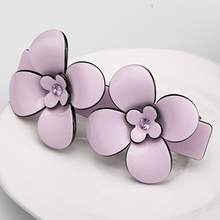 High Quality French Hair Barrettes acetate flower clips accessaries for women fashion jewelry hairpins Clamp shape for girls(China)