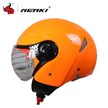 NENKI Unisex electrombile  Open Face Helmet Orange Capacetes Motociclistas Electric bicycle Protection electric bike Helmets