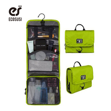 ecosusi Women Men Toiletry Bag Large Capacity Cosmetics Packing Organizer with Hanger Waterproof Makeup Bags Make Tidy Suitcase(China)