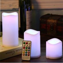 ETONTECK 3pcs Battery Powered LED Candle Night Lights Flameless Electronic Tealight Wedding Birthday Decoration Remote Control(China)
