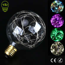 Vintage Fairy LED Bulb E27 G95 RGB String Led lamp 110V 220V Filament Light Bulb Holiday Lights Decor For Christmas Home Wedding(China)