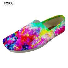 FORUDESIGNS Universo Espaço Estrela Galaxy Impresso Estudante Peso Leve  Sapatos Flats Mulheres Verão Confortável Preguiçoso 2fdb4ab8bffe9