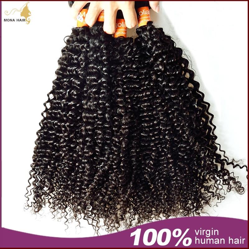 Kinky Curly Virgin Hair 7A Grade Mongolian Kinky Curly Hair 1 Bundle 100% Unprocessed Afro Kinky Curly Hair<br><br>Aliexpress