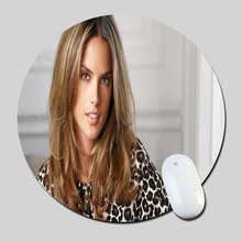 Alessandra Ambrosio Desktop 2016 Round Gaming Mouse Mats Mice Pad for Size 200*200*2mm