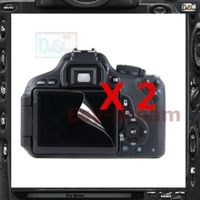 2pcs High Quality LCD Display Screen Film Protector For Canon EOS 1200D 1300D Rebel T5 T6 Kiss X70 X80(China)