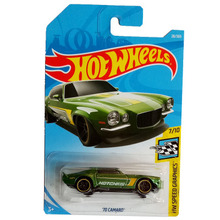 New Arrivals 2018 8b Hot Wheels 1:64 green 70 camaro Car Models Collection Kids Toys Vehicle For Children(China)