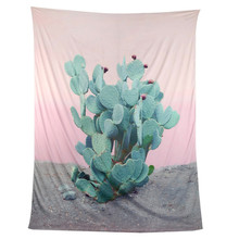 ouneed Lovely Pets Cactus Wall Hanging Tapestry Wall Hanging BedspreadBeach Towel Yoga Mat  0523