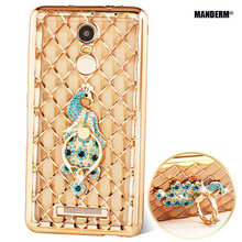 redmi note 3 case Luxury Rhinestone Case Cover For xiaomi redmi 3 pro Ultra-thin Silicone Case +Finger Rotated Ring Holder Stand