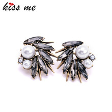 Women Irregularity Simulated Pearl Spike Stud Earrings Fashion Jewelry Factory Wholesale