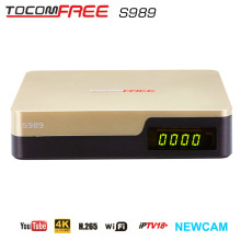Hot selling Tocomfree S989 with SKS IKS IPTV satellite receiver for Brazil ,Chile,Colombia all south America