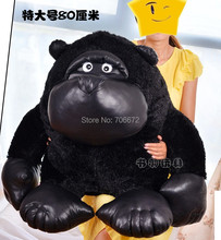 huge 80cm black Orangutan plush toy hugging pillow ,Christmas gift s0735(China)