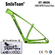 "Updated 2018 T800 Carbon MTB Frames,New 29er/27.5er Full Carbon Mountain Bike Frames 15"" 17"" 19"" 21"" inch Fit 27.2mm Seatposts(China)"