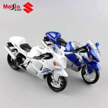 1:12 Mini Scale Child SUZUKI GSX 1300R Hayabusa diecast moto Free Wheels detailed  metal motorcycle models gifts for boys toys