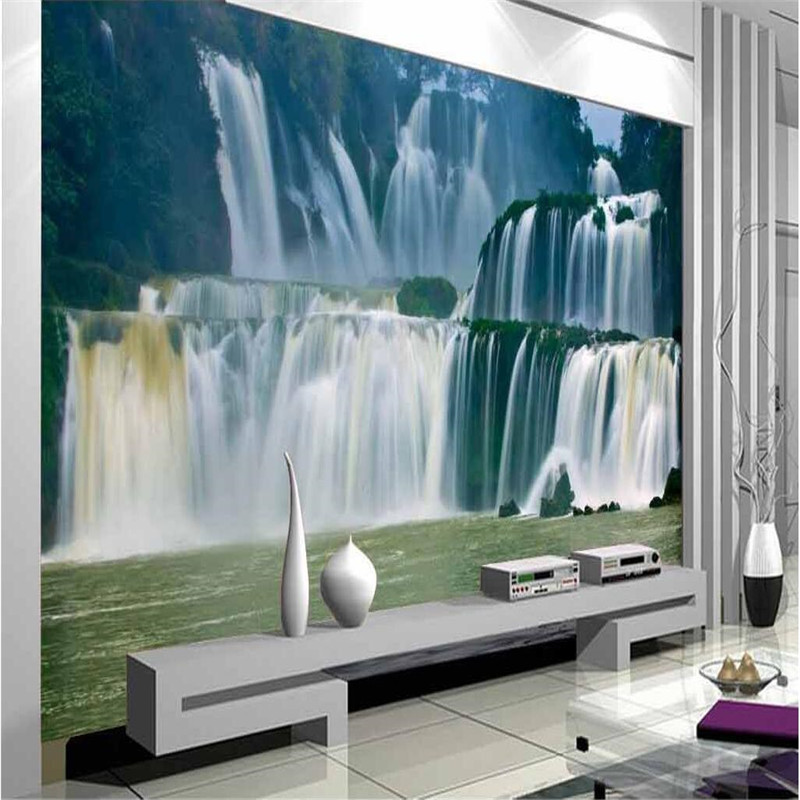 Large custom wallpapers 3D natural landscape Great Falls modern European mural living room home decoration background<br><br>Aliexpress