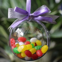 8cm Clear Christmas Decoration Hanging Ball Baubles Round Bauble Ornament Xmas Tree Home Decor Christmas Tree Xmas(China)