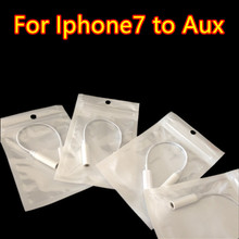 200pcs for iPhone 7 Lighting Connector Adapter Cable to 3.5mm AUX Female Audio Earphone Extender Jack Stereo for iPhone 7 Plus