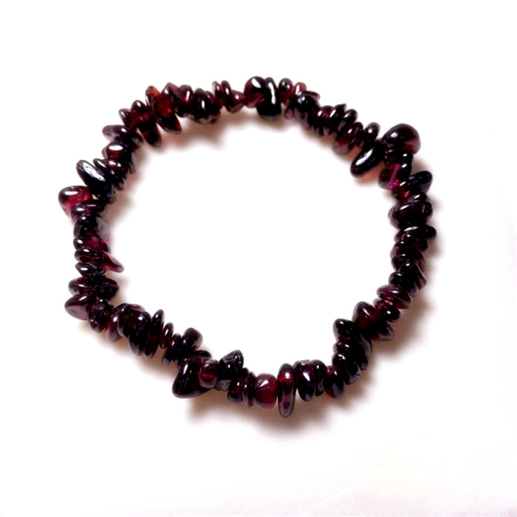 Garnet Crystal Bracelet Jewelry Girl Natural Stone Bracelet Wristband Charm Braclet For Female Accessories(China)