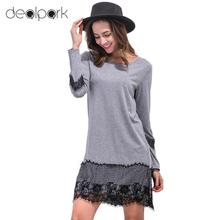 Women Lace Dress Shift Eyelash Lace O Neck Long Sleeves Straight Mini Shift Dress Black/Grey/White Ropa Mujer