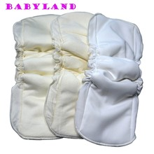 Babyland Good Quality 30 pieces Cotton Bamboo Inserts with double gussets for Bamboo Cloth Diapers(China)