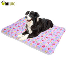 Pet Supplies Thick Warm Cushion Soft Fleece Pet Dog Sleep Mat Animal Bedding Bed Pet Mats Beds Mat For Cat Dog(Random Color)